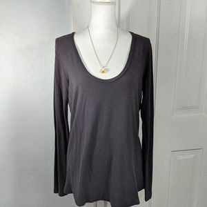 James Perse Size 4 (XL) Long Sleeve Tee Scoop Neck